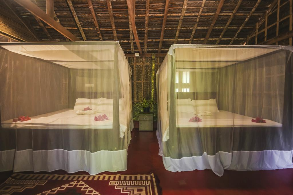Our twin share accommodation has 2 king sized beds, ideal for 2 friends sharing and can be booked as a family room in Patnem.